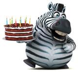 Fototapeta Fototapeta z zebrą - Fun zebra - 3D Illustration © Julien Tromeur