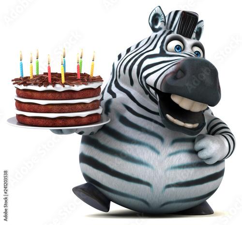Fun zebra - 3D Illustration - 241203538