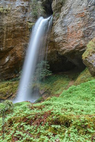 Waterfall in Kakueta Canyon, Aquitaine, France