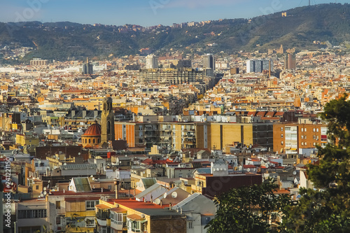 View from El Poble-sec in Barcelona