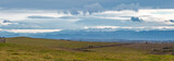 panorama of clouds over pyrenees mountains from aude, france, europe