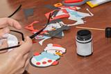 Needlework snowman details - 241235720