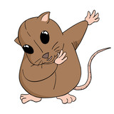 adorable hamster illustration