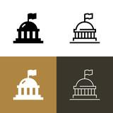 Government Capital Icon Set - 241245735