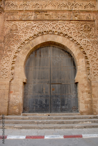 Beatiful Moroccan door ancient palace