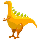 Fototapeta Dinusie - Funny illustration of a dinosaur © Dwi