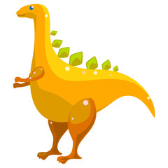 Funny illustration of a dinosaur