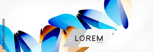 Triangle 3d polygonal art style. Future geometric design. Vector geometry futuristic illustration - 241261585