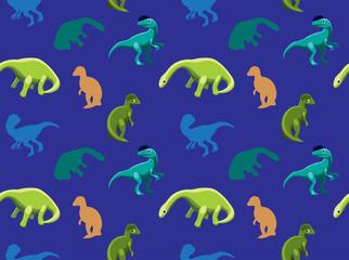 Dinosaurs Wallpaper Vector Illustration 18
