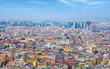 Quadro Aerial daylight view of colour streets of Naples, Italy