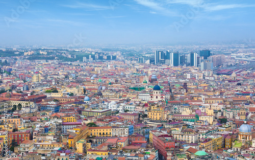 Aerial daylight view of colour streets of Naples, Italy - 241274733