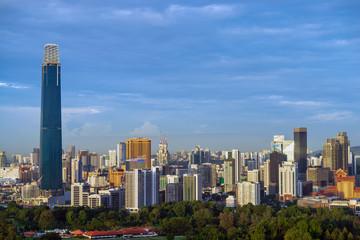Panorama morning view in the middle of Kuala Lumpur city center , Malaysia © shaifulzamri.com