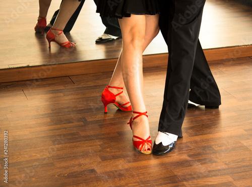 Ballroom dance salsa dancers - 241280392