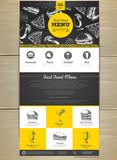 Fast food menu concept Web site design. Corporate identity. - 241282781