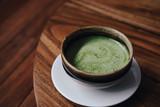 Matcha tea with vegan coconut milk - 241295758