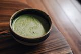 Matcha tea with vegan coconut milk - 241295770