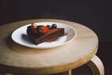 Vegan raw chocolate flourless piece of cake - 241296114