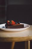 Vegan raw chocolate flourless piece of cake - 241296156