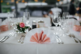 table setting at a wedding - 241297546