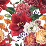 Watercolor floral pattern - 241307133