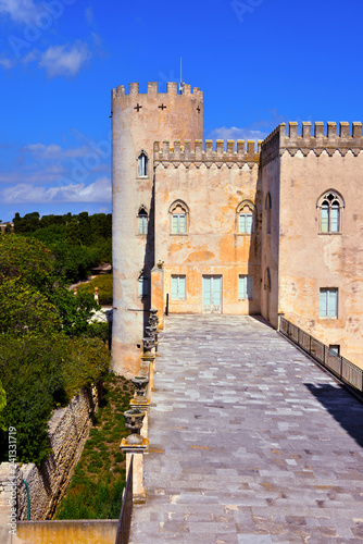 the historic castle of Donnafugata, Ragusa, Sicily, Italy