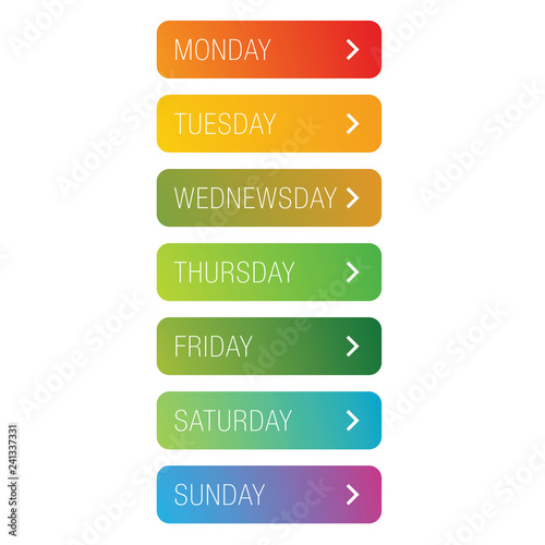 Days of the week button