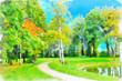 Leinwandbild Motiv Digital artwork in watercolor painting style.