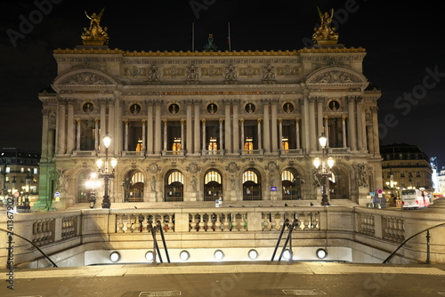 Paris,France-October 16, 2018: Palais Garnier or Opera National de Paris early in the morning