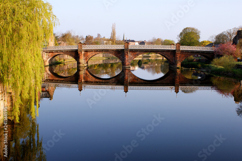 Buccluech Street Bridge over the River Nith, Dumfries Scotland Built in 1793 by architect Thomas Boyd - 241368595