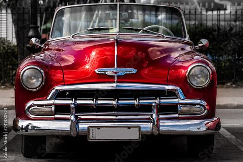 mata magnetyczna Oldtimer in Havanna Kuba rot