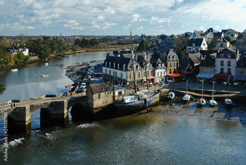 Saint Goustan harbor and Auray river in Brittany