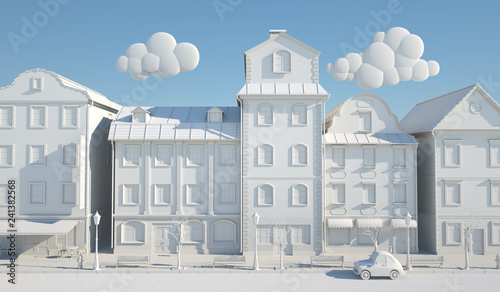 White Paper Style Old town. - 241382568