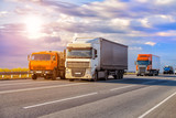 trucks goes on highway