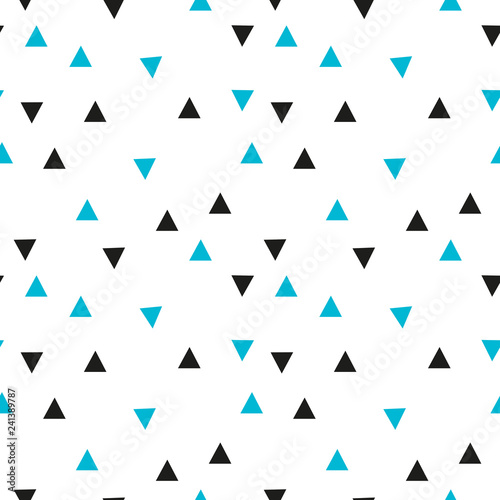 obraz lub plakat Triangle seamless pattern Abstract vector geometric background.Print for interior design and fabric