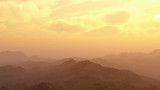 Mountains at cloudy sunrise - 241396353