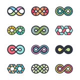 Infinity vector symbols and logo design graphics - 241399122