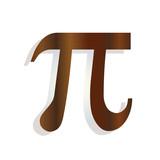 the greek letter pi - mathematical symbol icon - school education concept  - 241402332