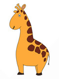 cute animal  giraffe  cartoon illustration