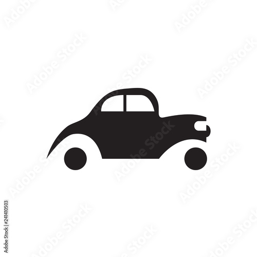retro car black icon vector desgin illustration - 241410503