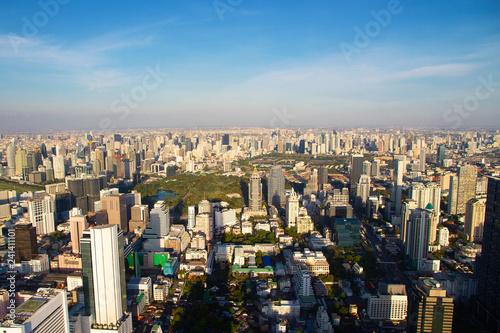 Park and Cityscape in Bangkok Thailand skyline  - 241411101
