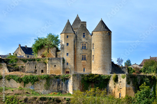 Castle of Salignac-Eyvigues, a commune in the Dordogne department in Nouvelle-Aquitaine in southwestern France.