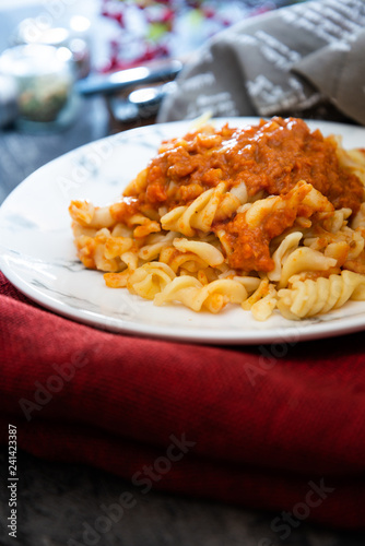 Pasta Bolognese on the table - 241423387