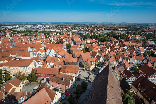 View to the roofs of Noerdlingen