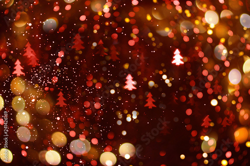 Abstract bokeh background for the New Year.