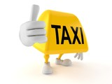 Taxi character with thumbs up - 241429576