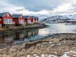 Rorbu holiday houses in Stokmarknes on Hadseloya, Vesteralen, Nordland, Norway