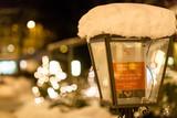 Swiss cold winter streetlights snow - 241433766