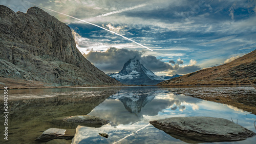 Mountain With Water Reflection