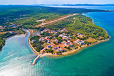 Zaton beach and cap Punta Skala aerial view - 241435134