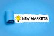 Leinwandbild Motiv New Markets